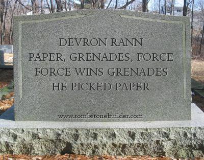 Devron tombstone