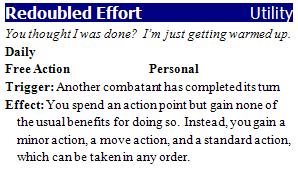 Redoubled effort