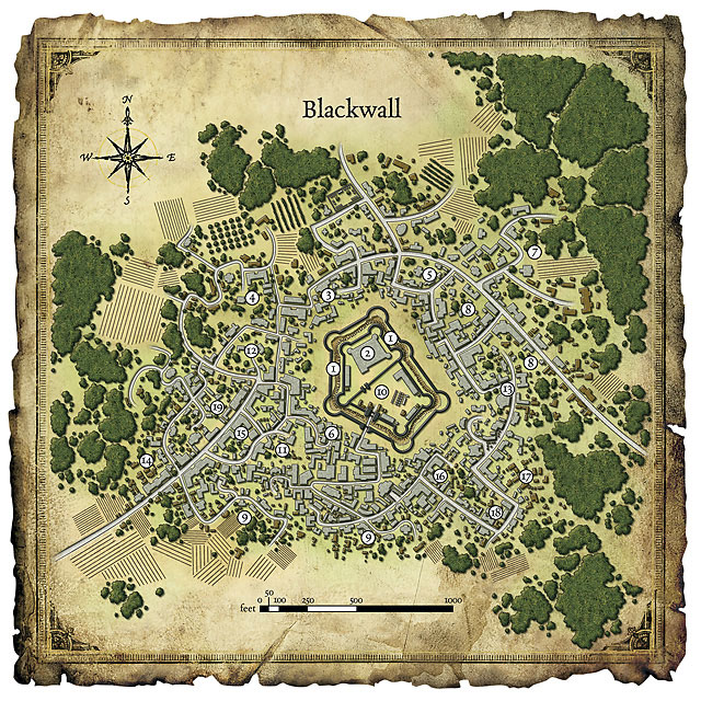 Blackwall town map