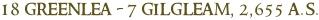 18 greenlea   7 gilgleam  2 655 a.s