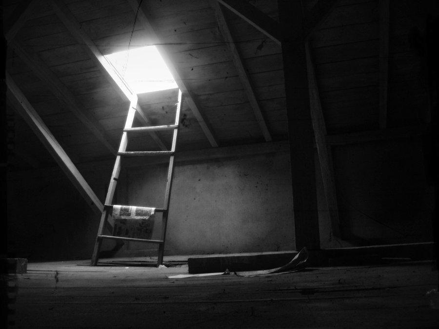 Piętro domu Silasa - wyjście na dach