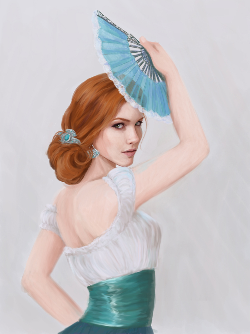 Alicja w stroju z aragon