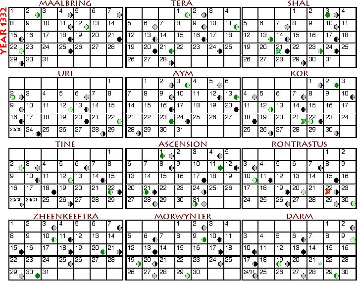 Calendar 1332