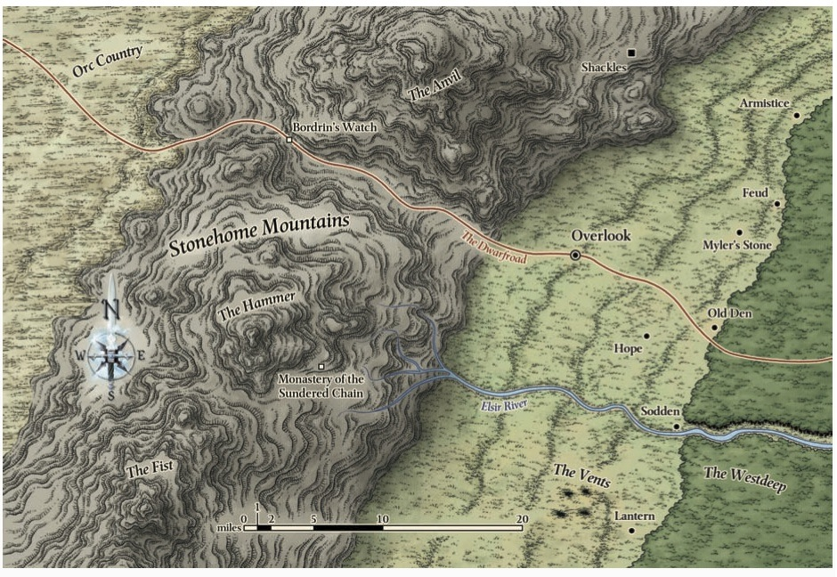 Overlook region map
