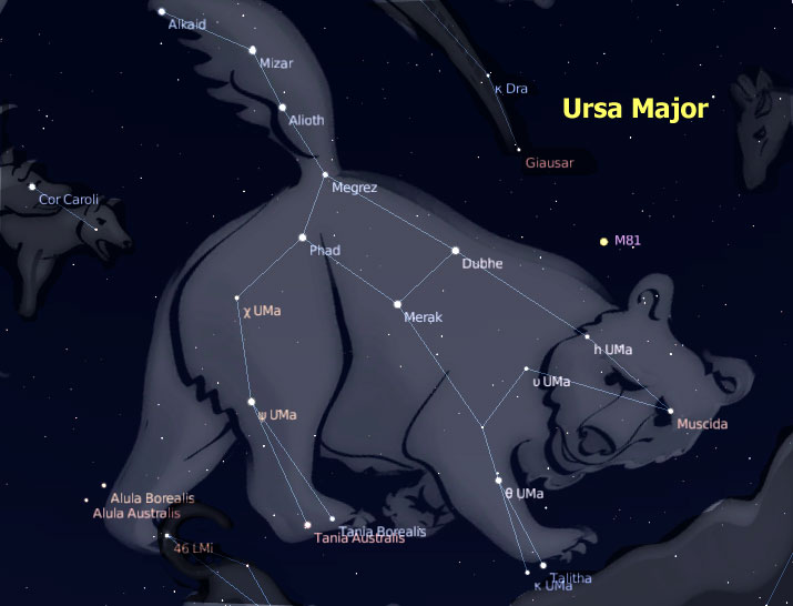 Stellarium ursa major