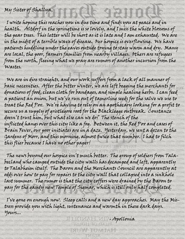 Letter shallya