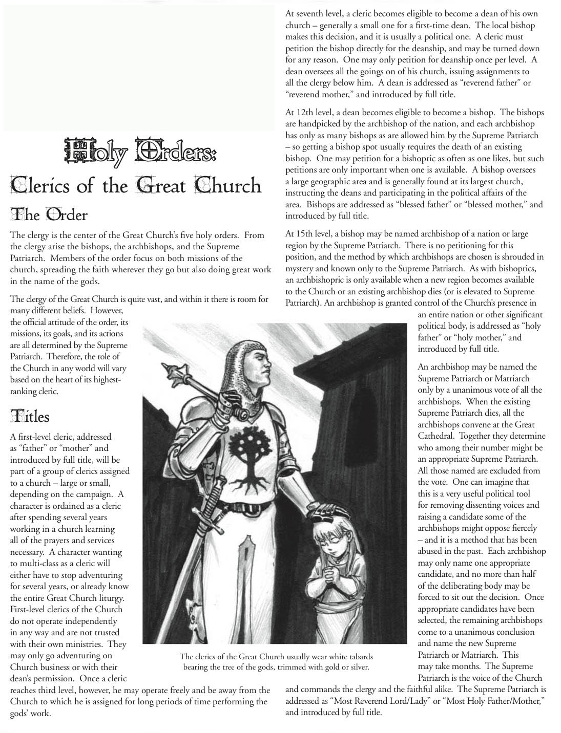 Clerics of the great church page 1