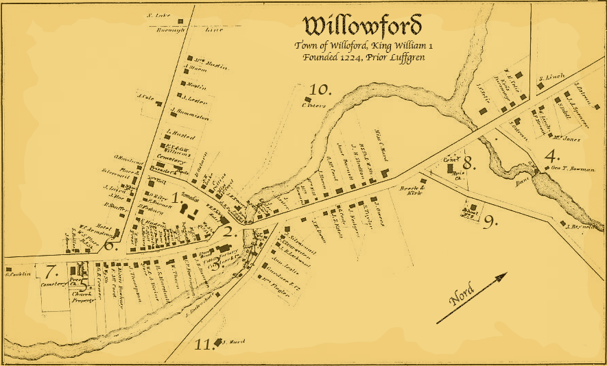 Willowford map village