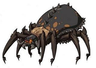 Giant spider color