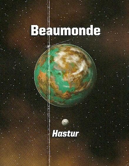 Beaumonde and its moon Hastur