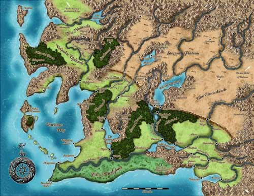 Varisia map