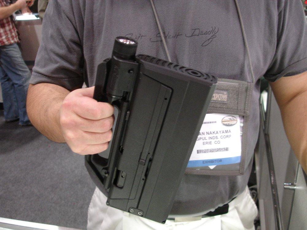 SIN Database - Spredronian Military Hardware SHOTShow2008_MagPulGlockSubgun_Closed_3_2-04-08