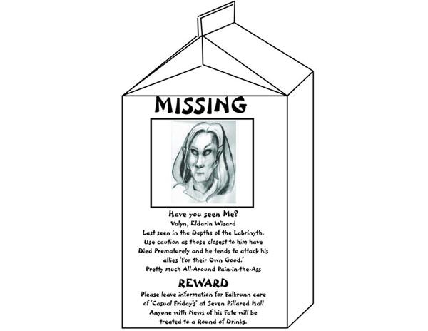 Missing valyn