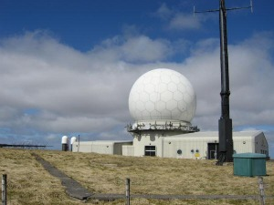 Twin hills radar station