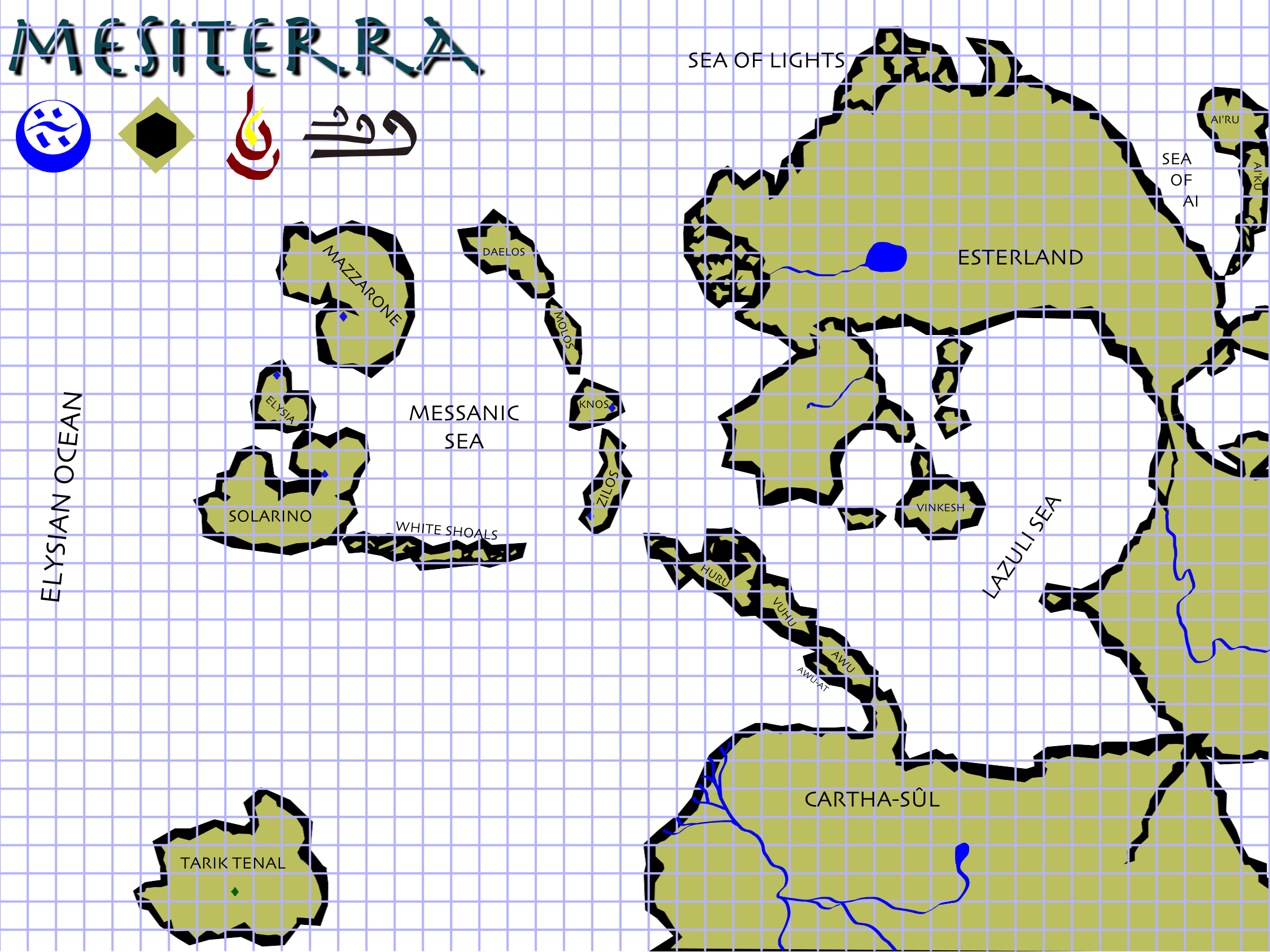Mesiterra map labeled