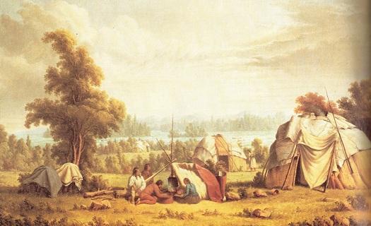 Ojibwa village