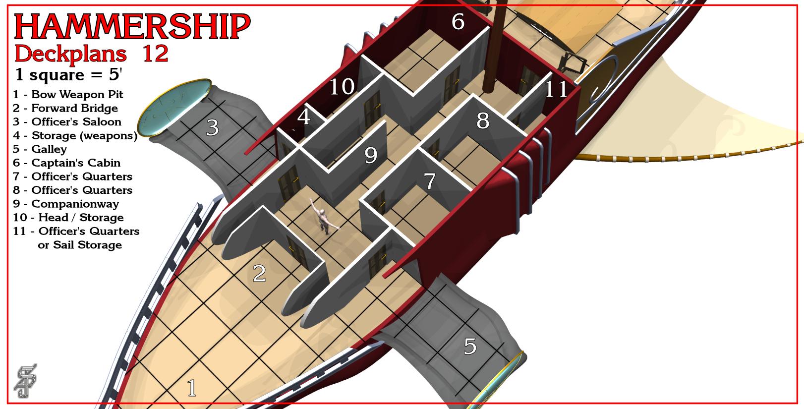 Hammership layout 12