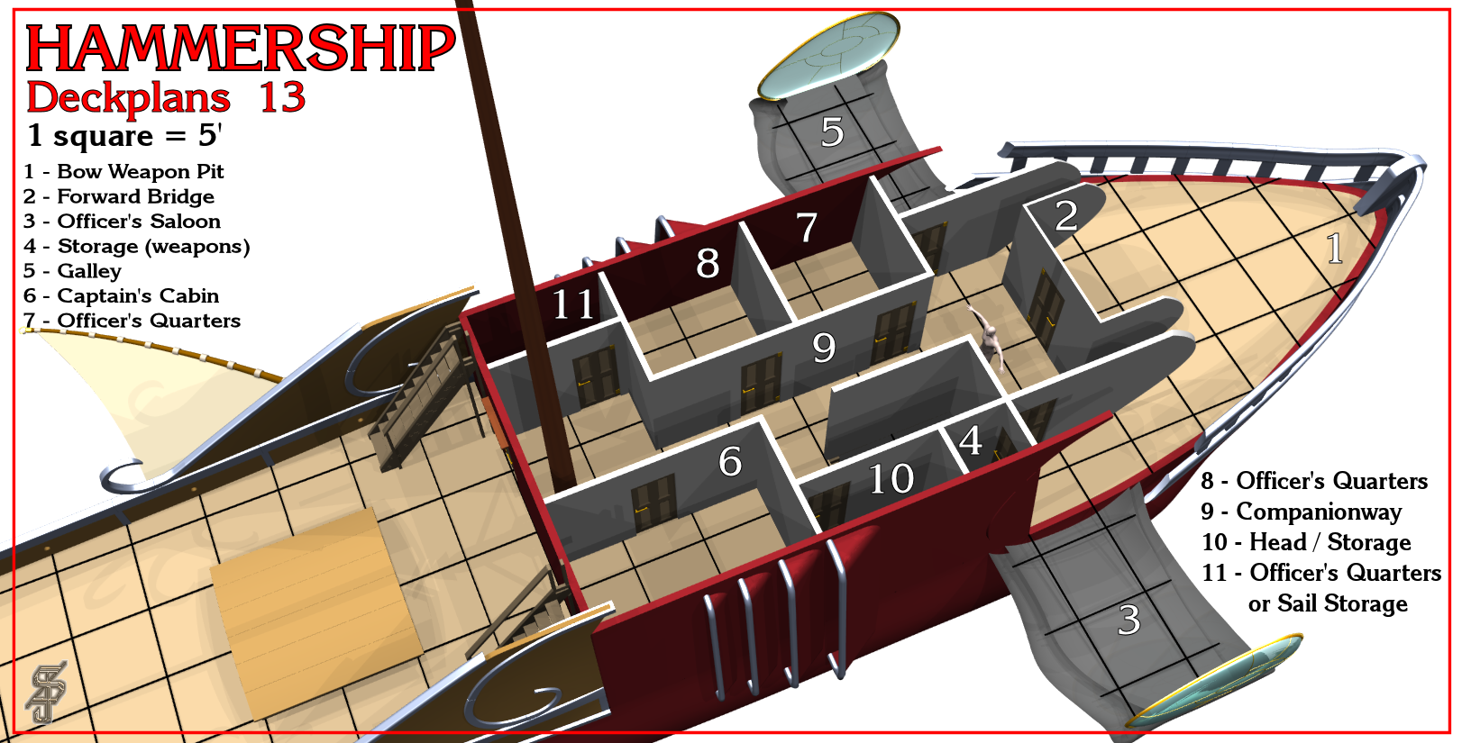 Hammership layout 13