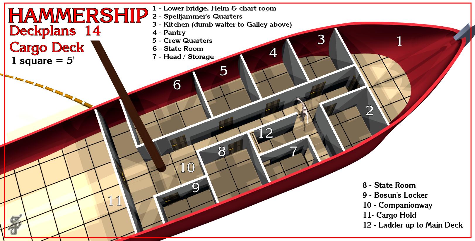 Hammership layout 14