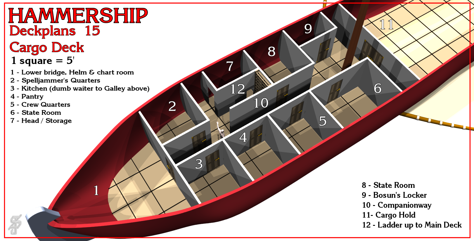 Hammership layout 15