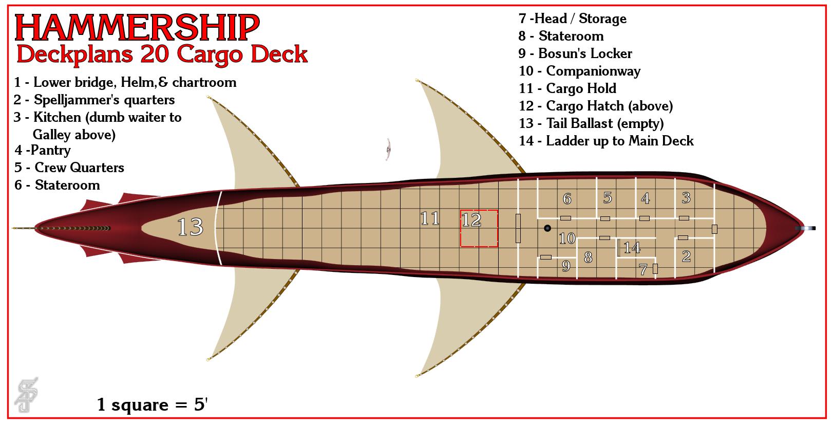 Hammership layout 20