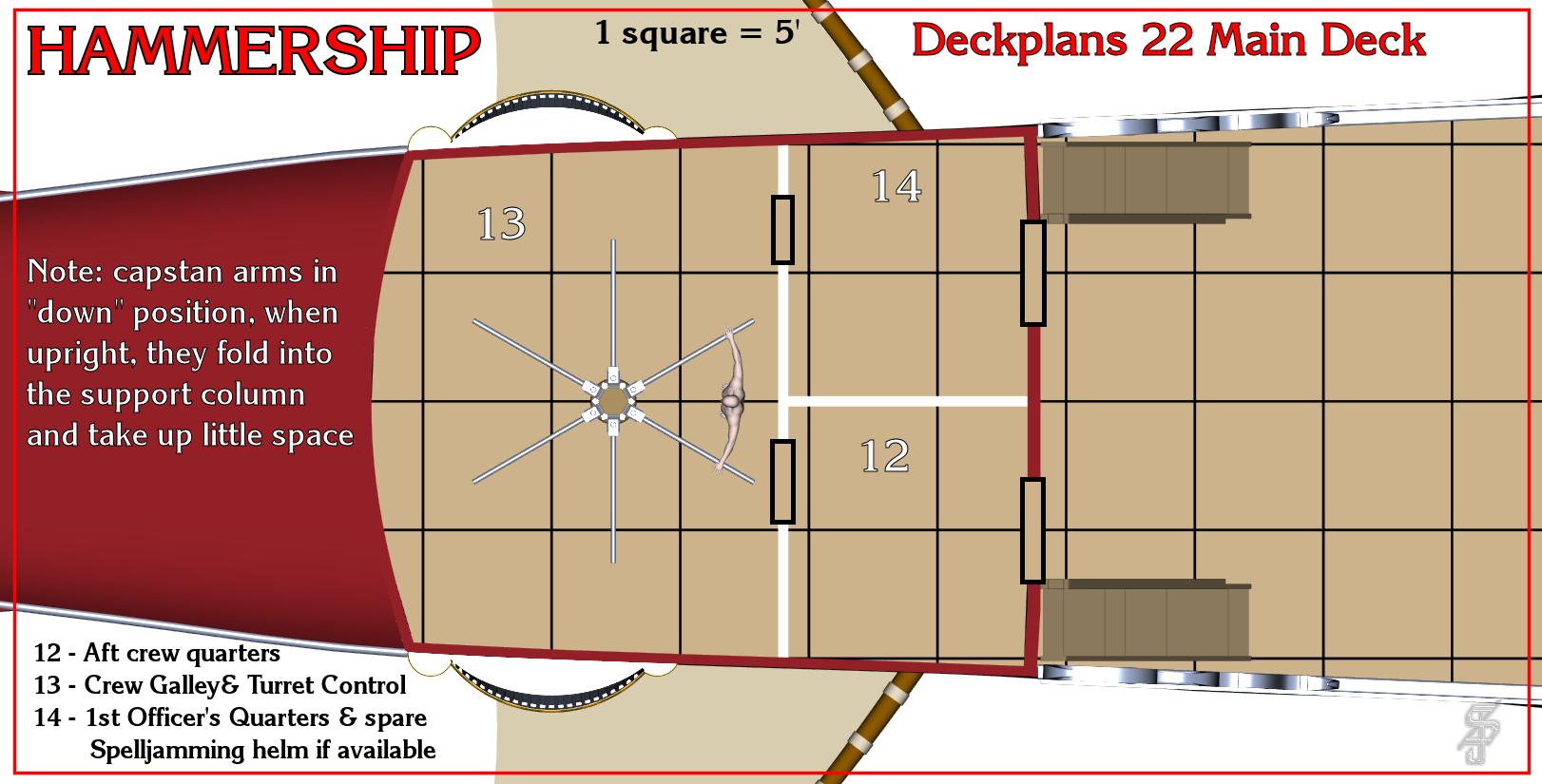 Hammership layout 22