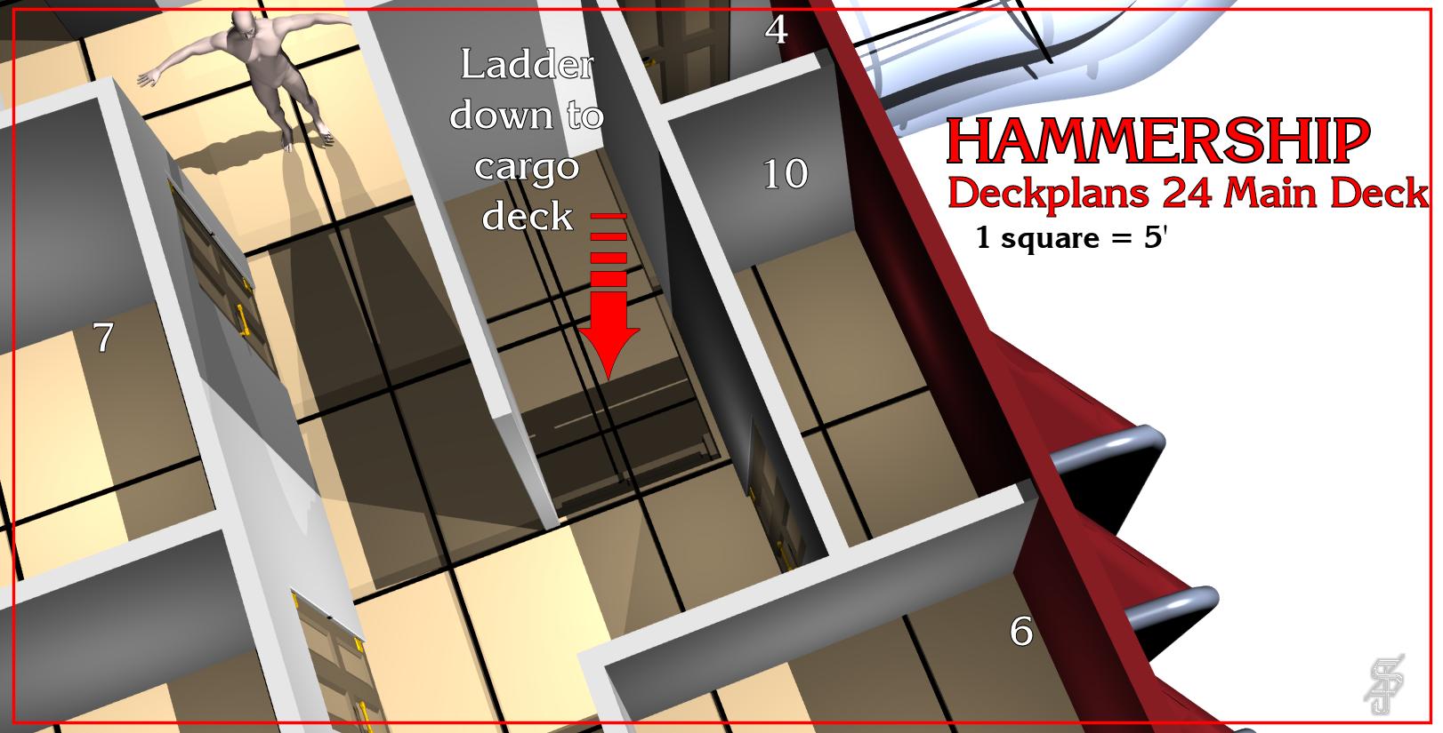 Hammership layout 24