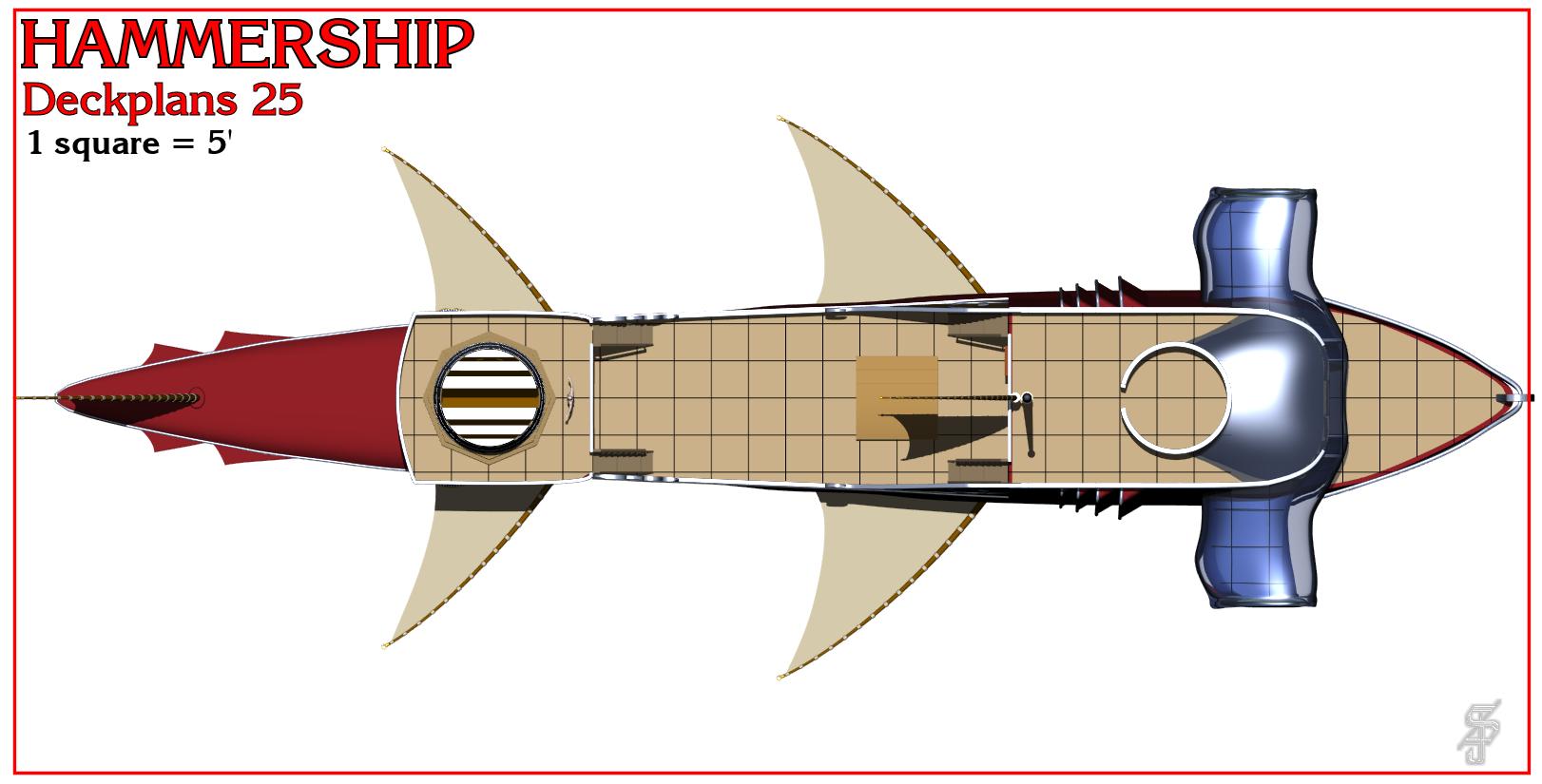 Hammership layout 25