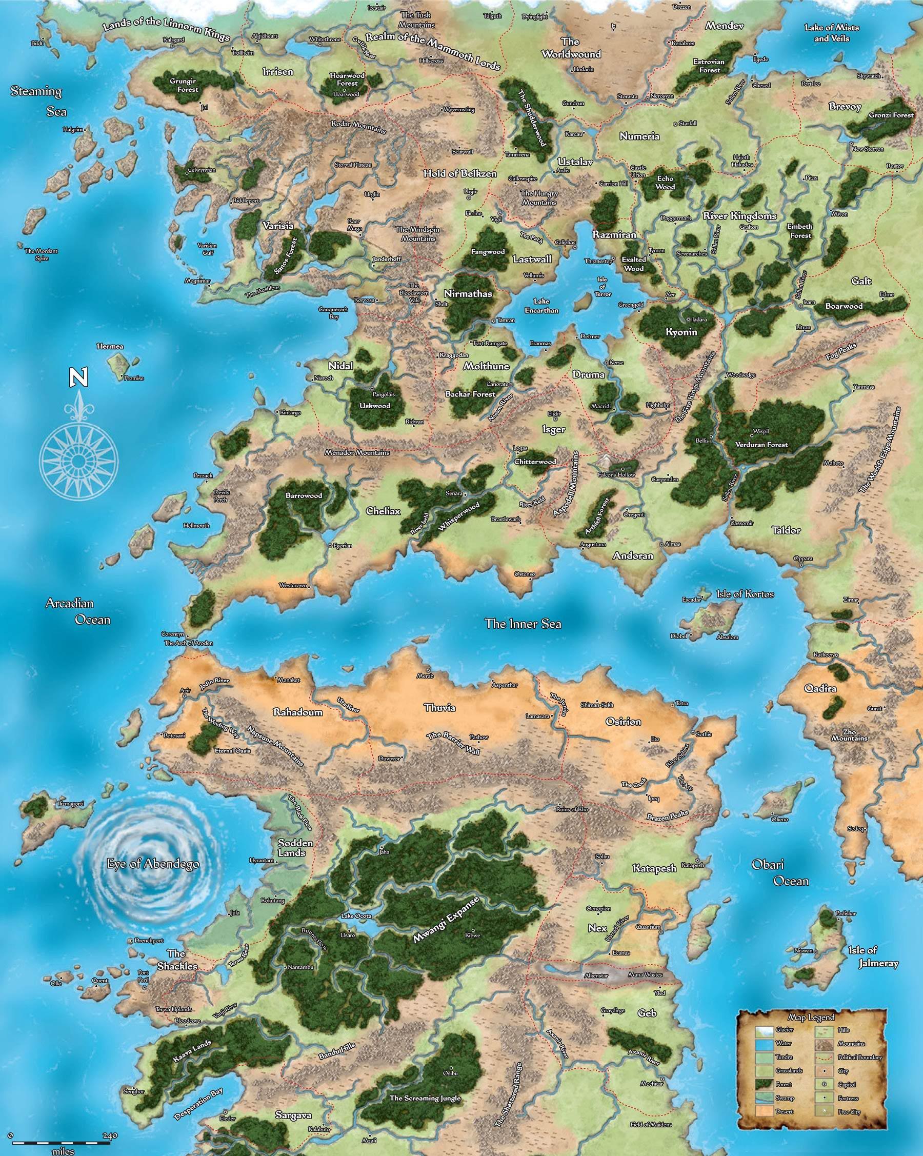 Golarion Map