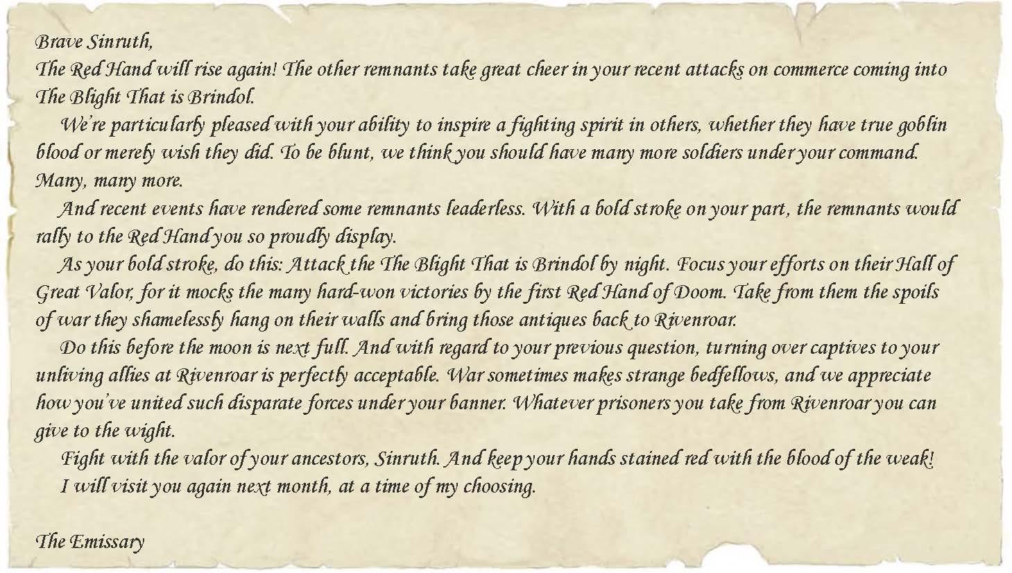 Sinruth letter