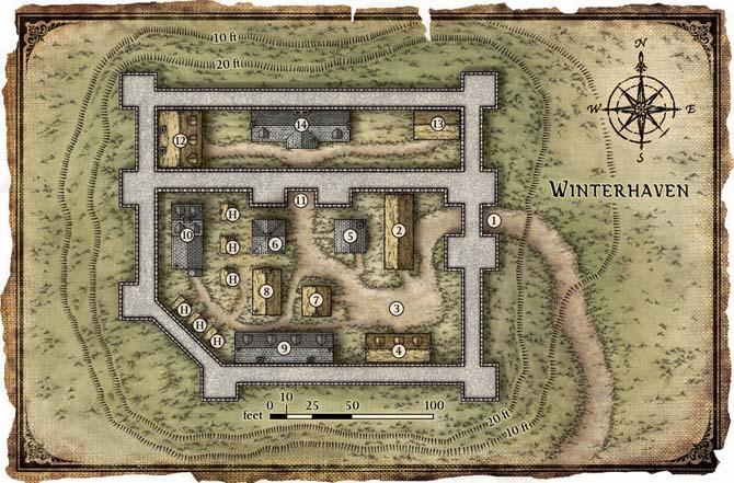 Winterhaven map