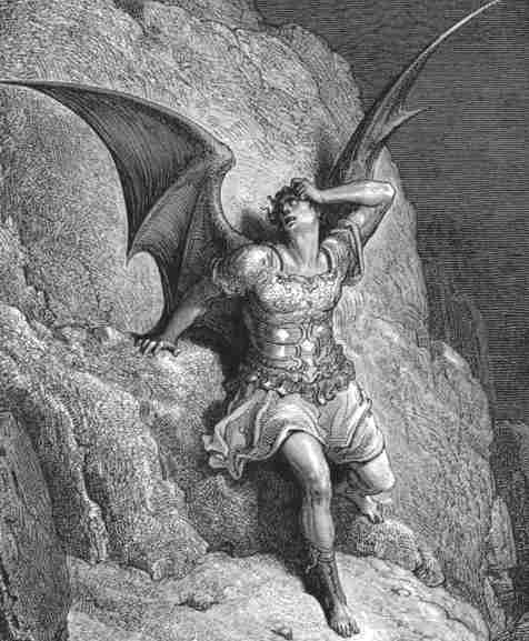 Satan gustave dore paradise lost the devil cast out of heaven