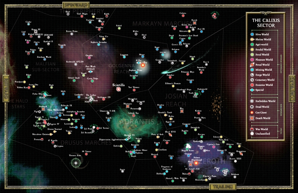 Calixis sector map
