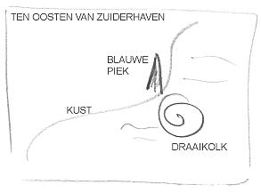 Kaart blauwe piek