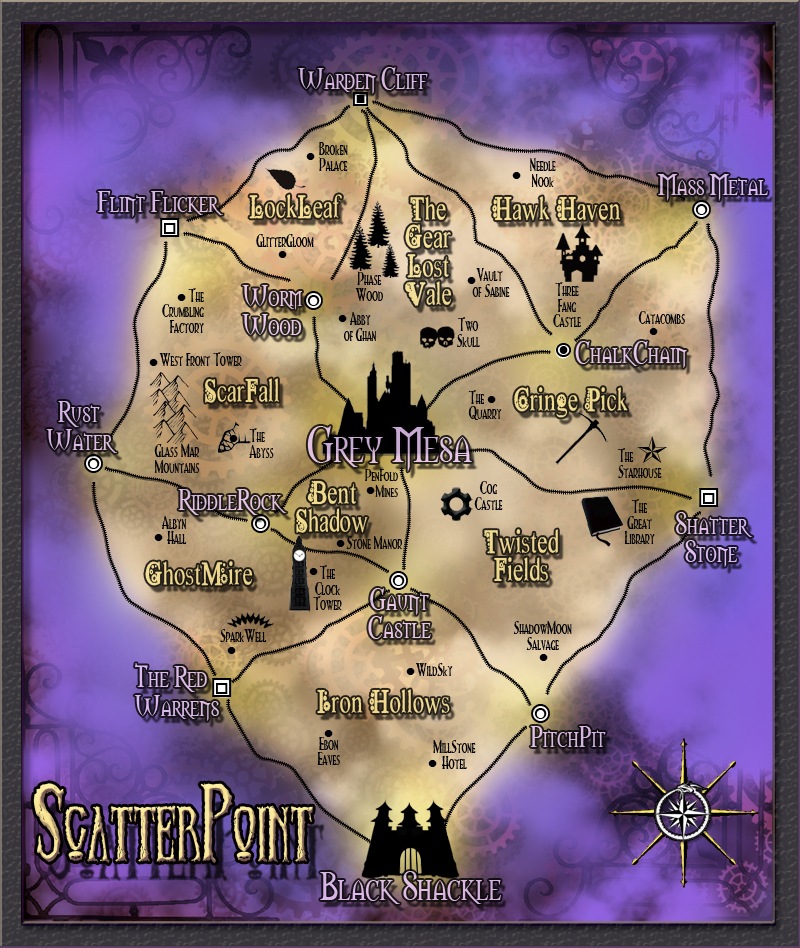 Scatter point map med