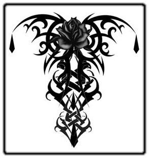 Tribal gothic rose