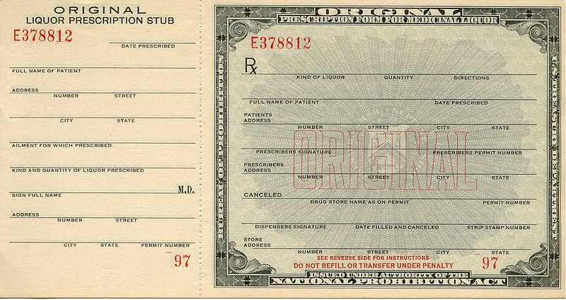 Prohibition prescription front