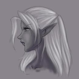 Drow woman by the catlady