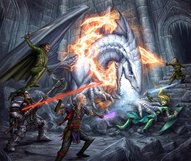 White dragon fight
