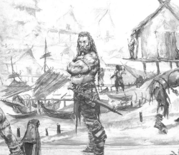 A northman by his longboat