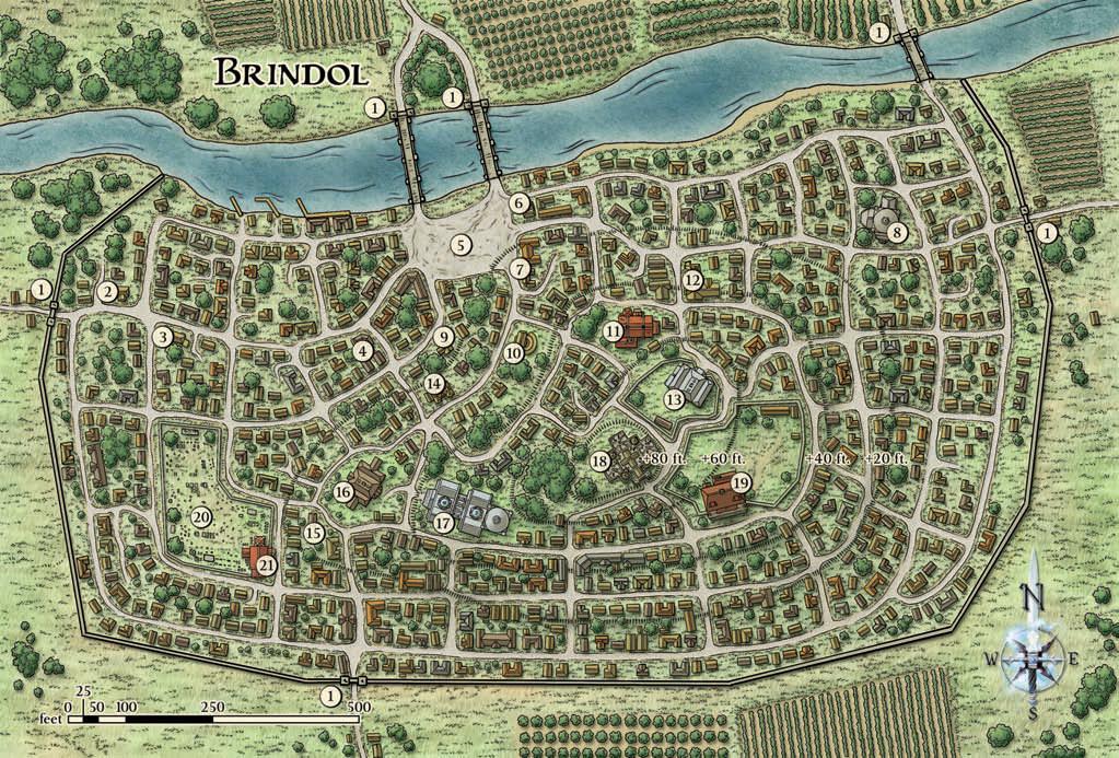 Brindol city map