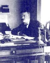 Teddy at desk