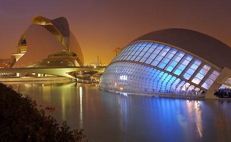 2futuristic architecture valencia spain
