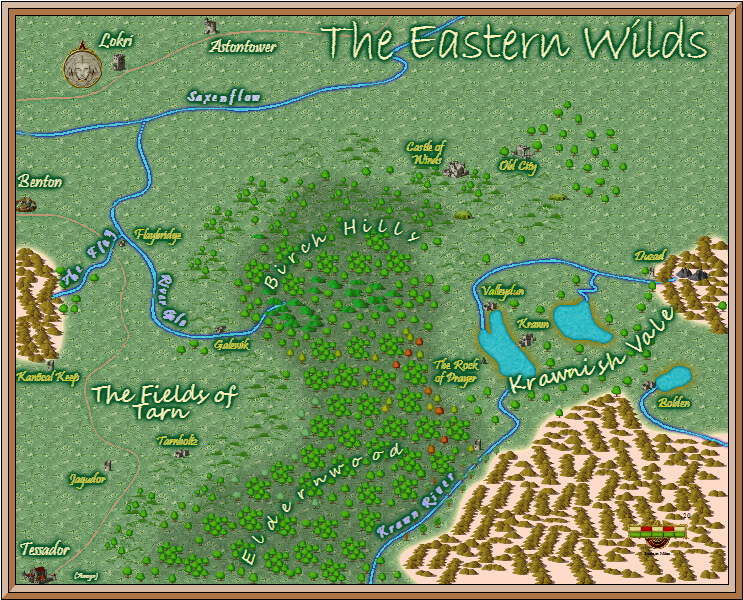 Eastern wilds map