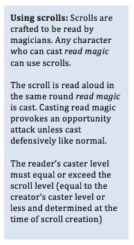 Using scrolls table