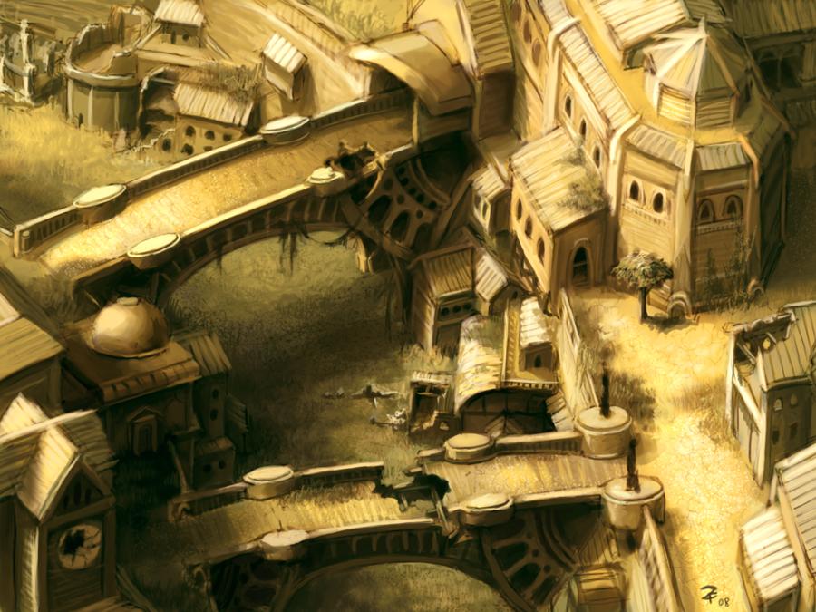 Deserted city by zack f