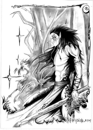 Wood Elf Wardancer, by Taidaishar