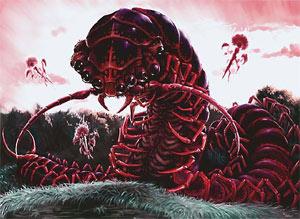 Large monstrous centipede kingdoms of kalamar obsidian for Ka chentapete