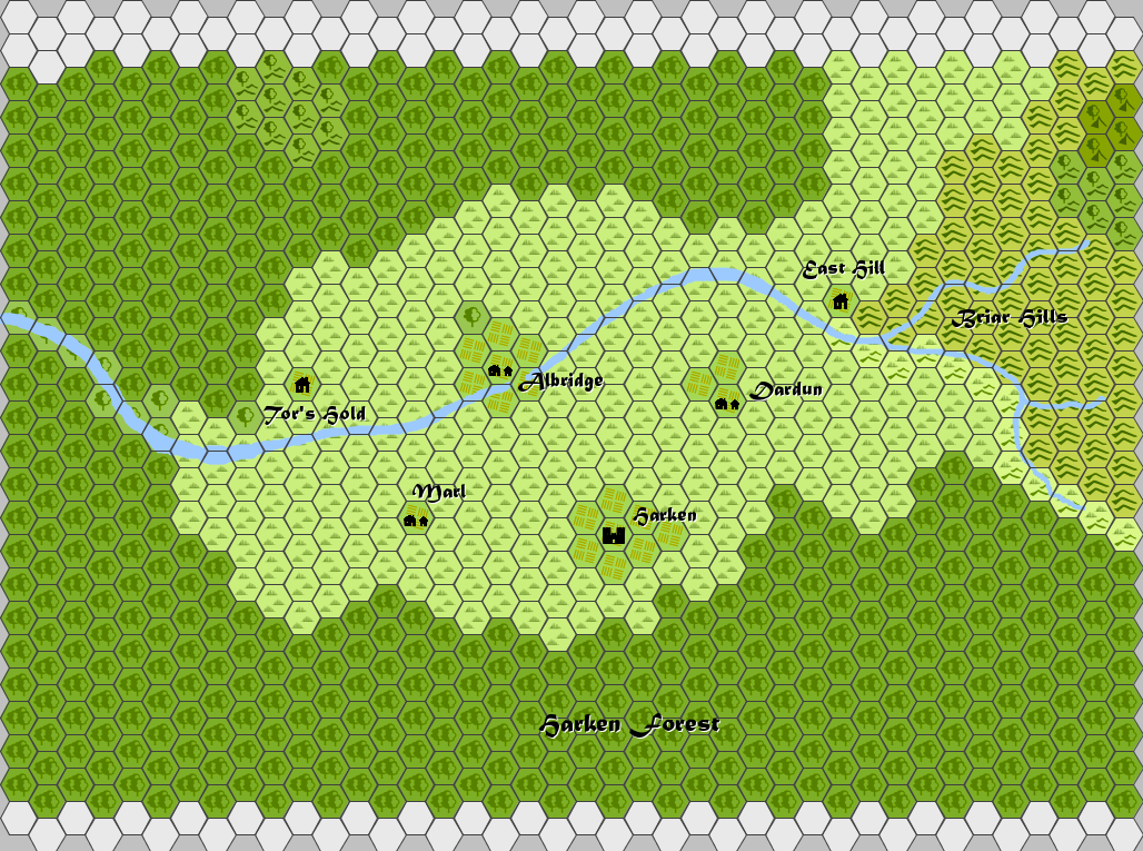 Harkenwold Map