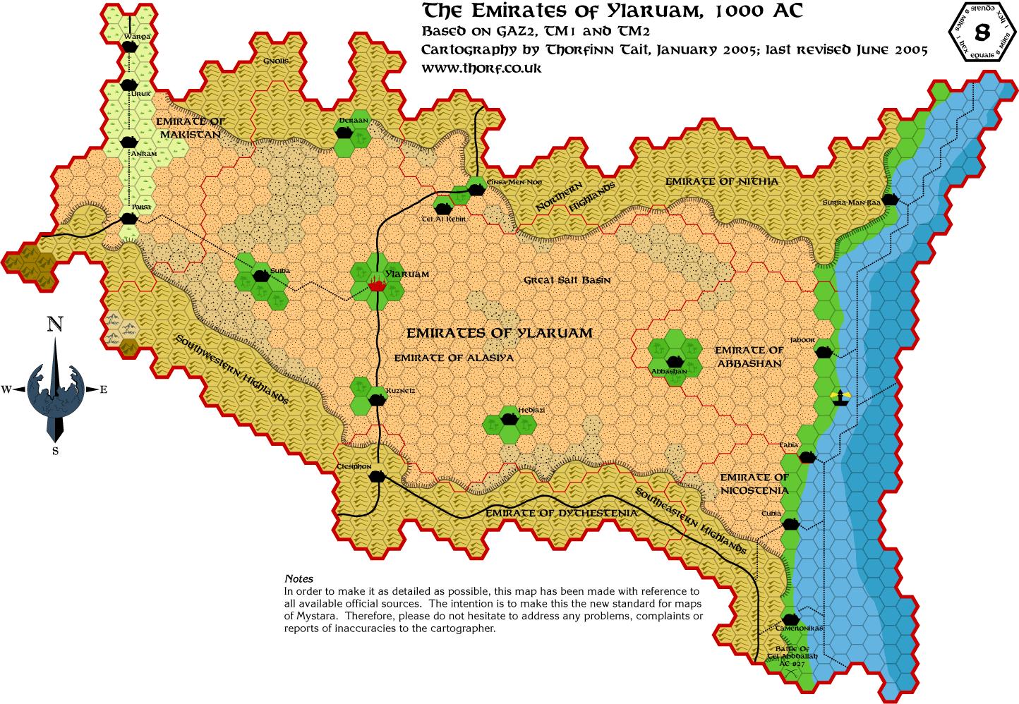 Ylaruam map